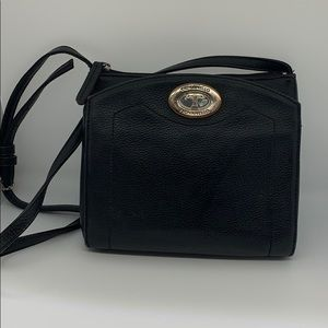 Tignanello embossed leather pocketed crossbody